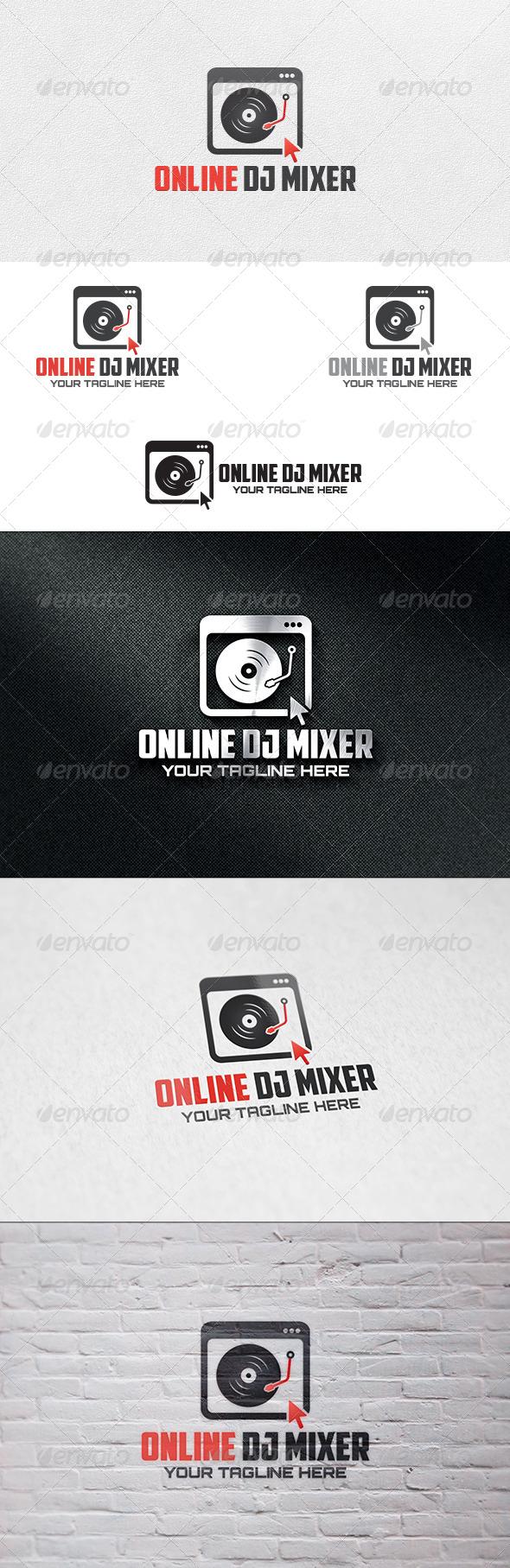 Online DJ Mixer - Logo Template - Symbols Logo Templates