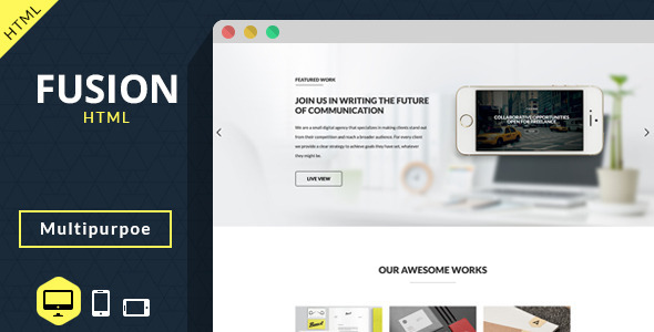 Fusion – Multipurpose Creative Template
