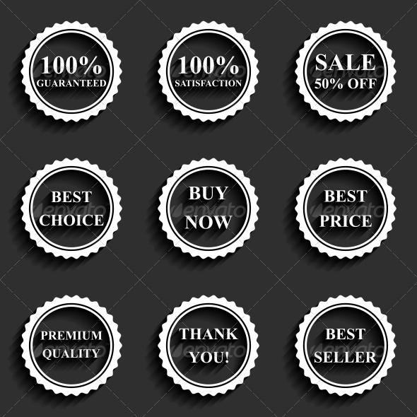 Sale Icons - Web Elements Vectors