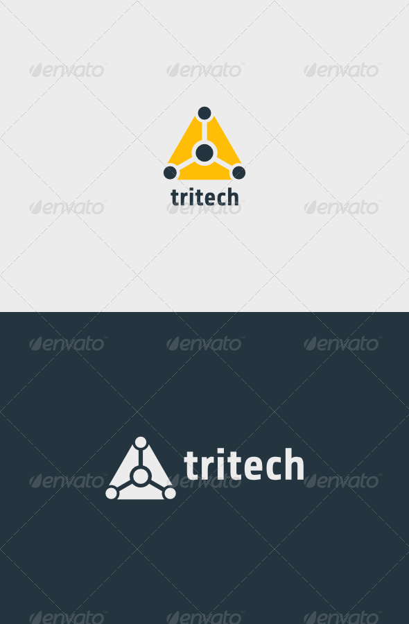 Triangle Tech Logo - Vector Abstract