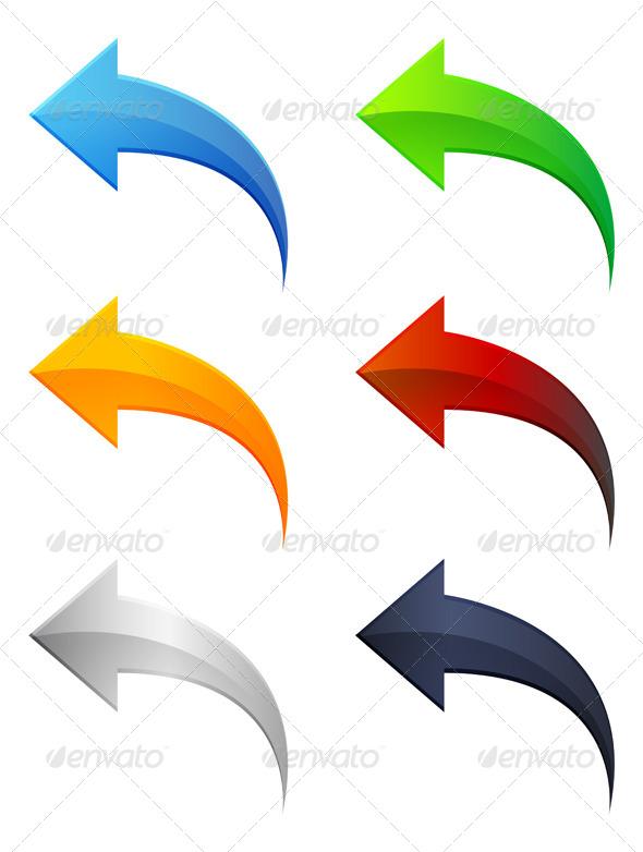 Set of Arrow Icons - Abstract Conceptual