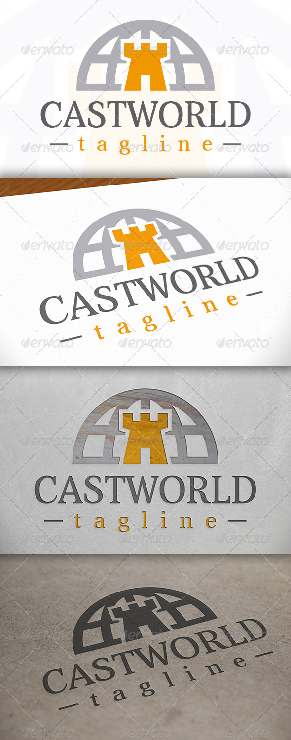 Castle World Logo - Objects Logo Templates
