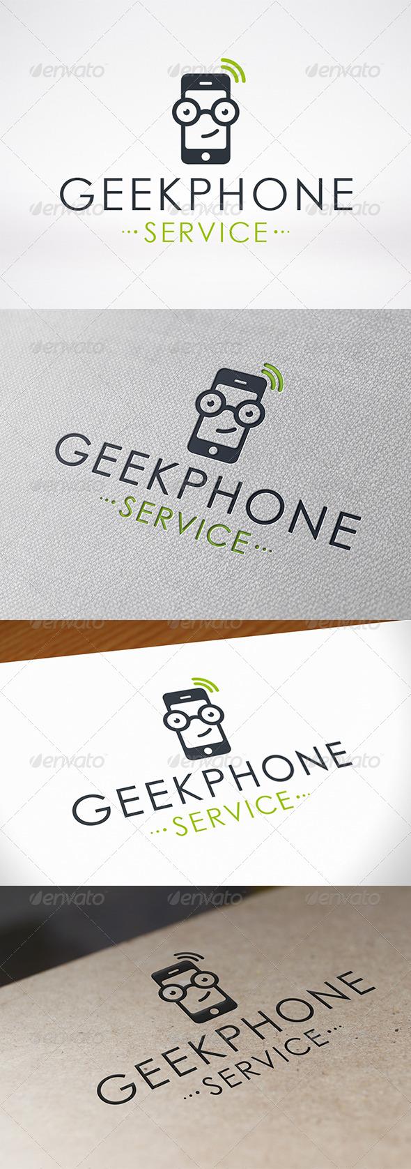 Geek Phone Logo Template - Objects Logo Templates