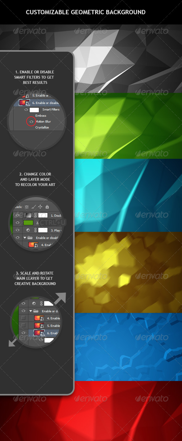 Customizable Geometric Background - Abstract Backgrounds