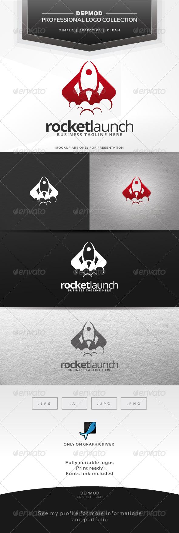 Rocket Launch Logo - Objects Logo Templates
