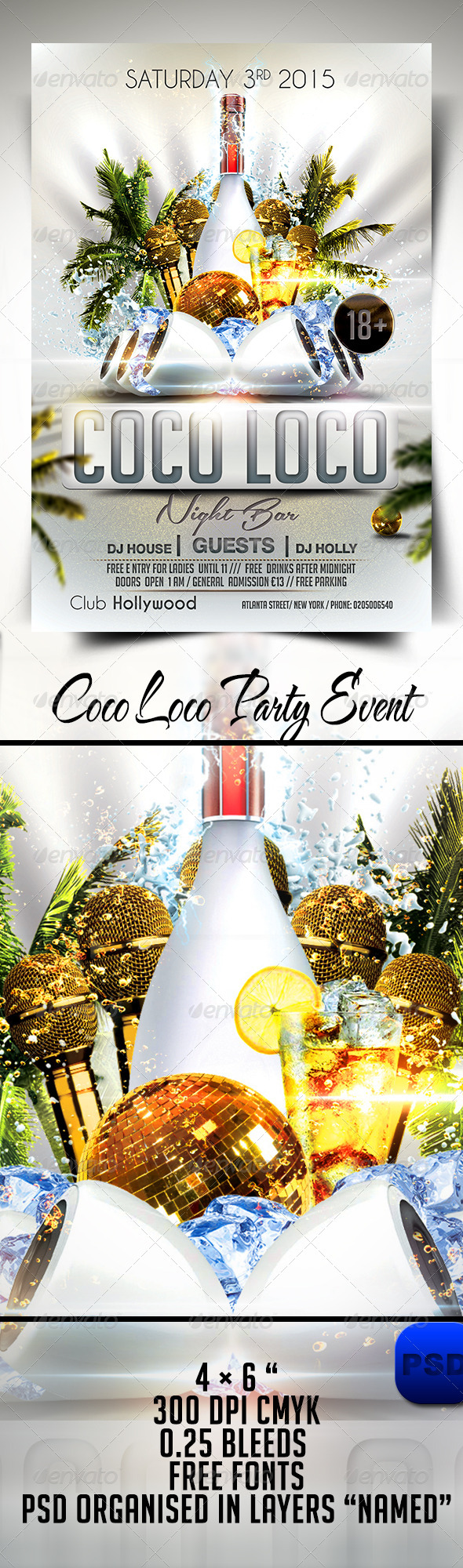 Coco Loco Party Event - Events Flyers