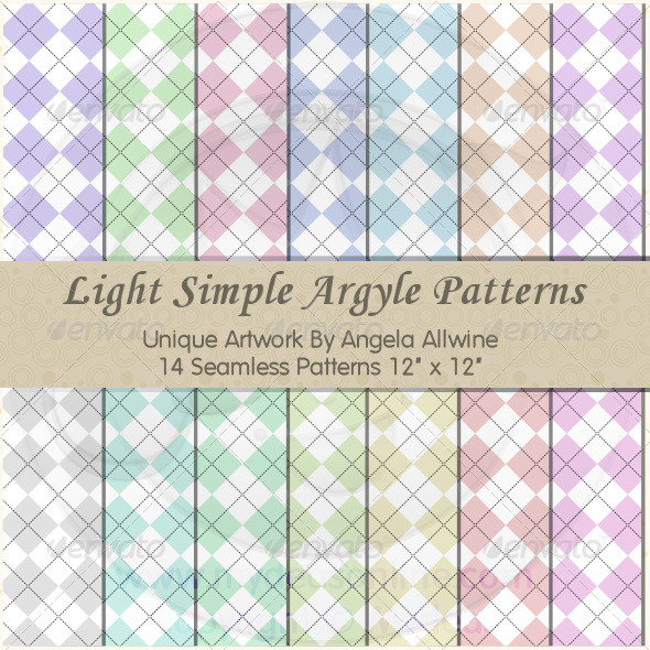 Light Simple Argyle Pattern Set - Patterns Backgrounds