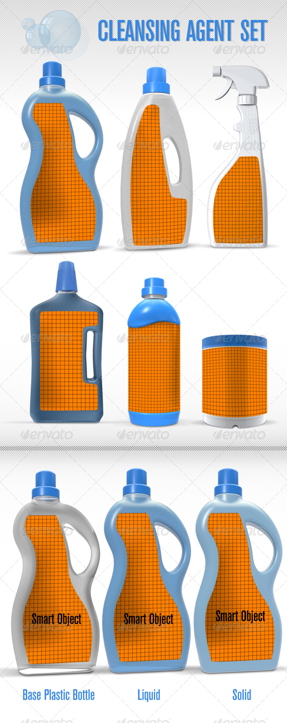 Cleansing Agent Mock-Up Set - Miscellaneous Packaging