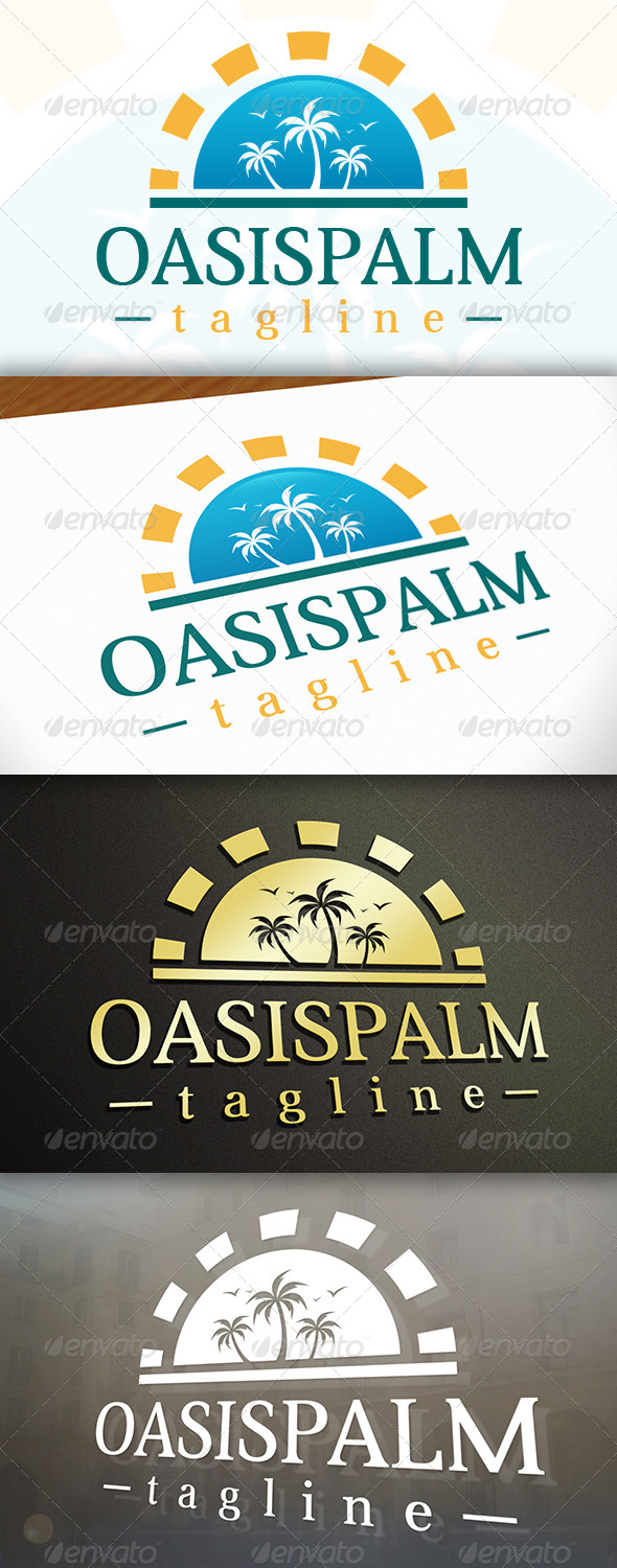 Oasis Logo - Nature Logo Templates