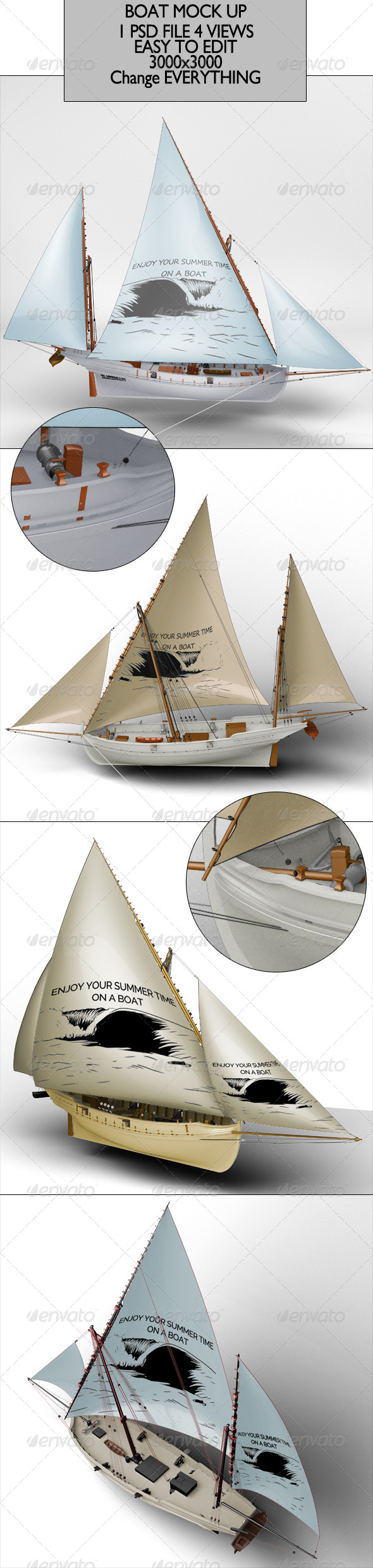Boat Mock Up - Miscellaneous Product Mock-Ups
