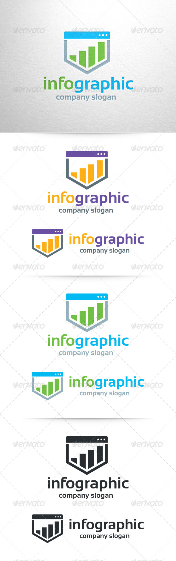 Infographic Logo Template - Abstract Logo Templates