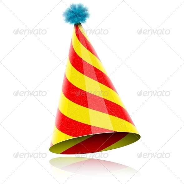 Colorful Glossy Hat For Celebration. - Birthdays Seasons/Holidays