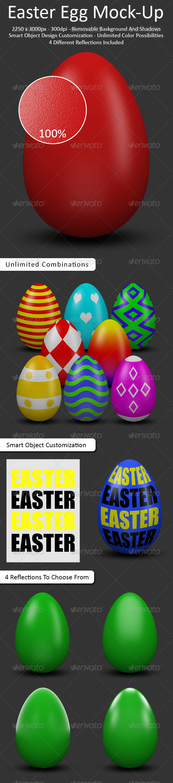 Easter Egg Mock-Up - Product Mock-Ups Graphics
