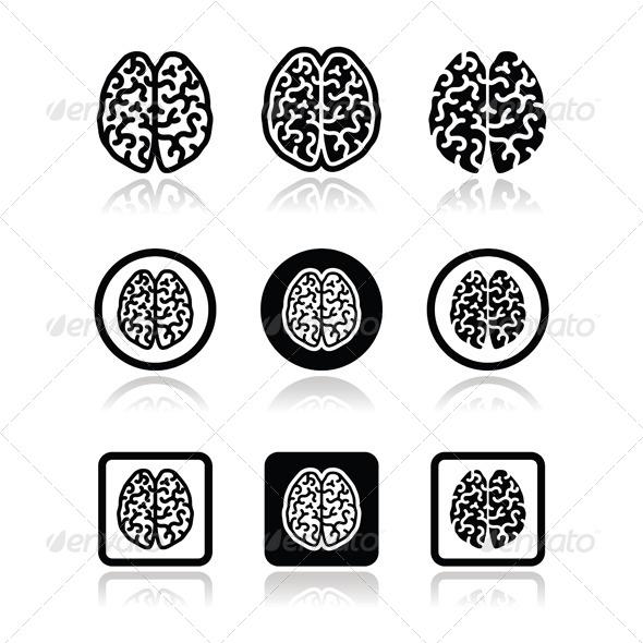 Brain Icons - Health/Medicine Conceptual