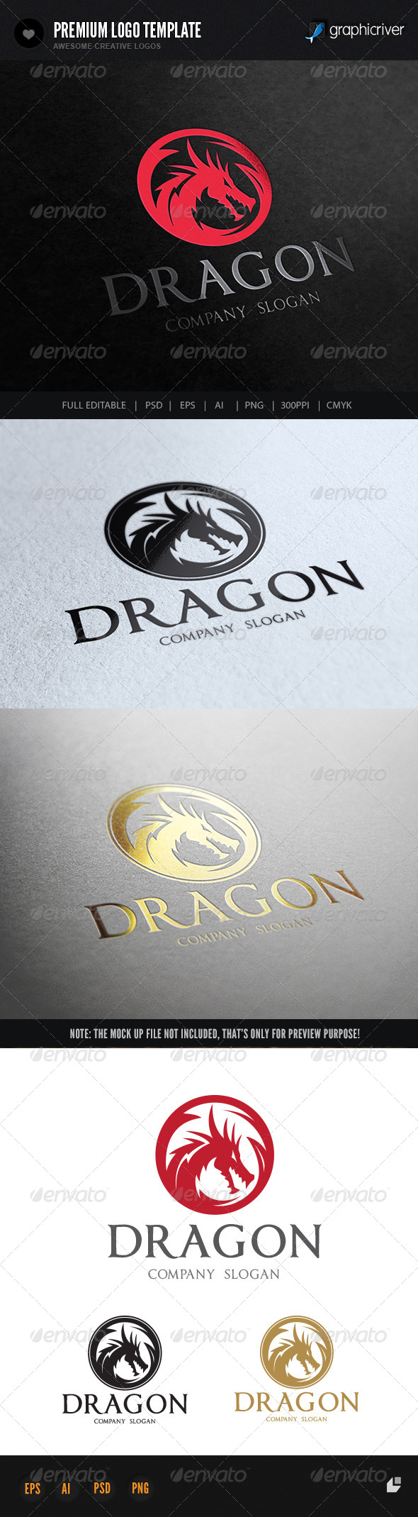 Dragon - Crests Logo Templates