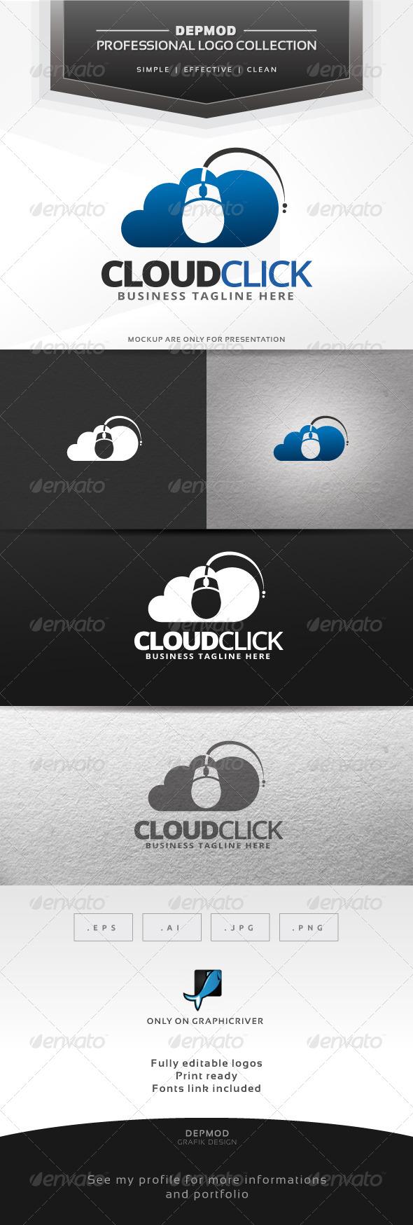 Cloud Click Logo - Symbols Logo Templates