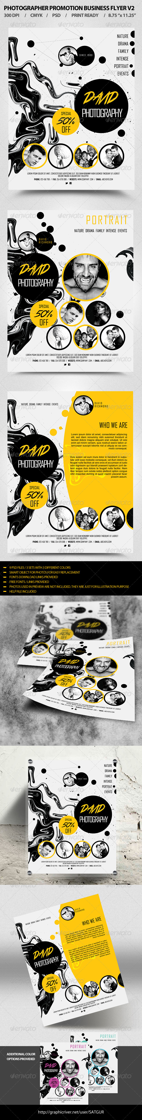 Photographer Business Promotion Flyer Template V2 - Flyers Print Templates