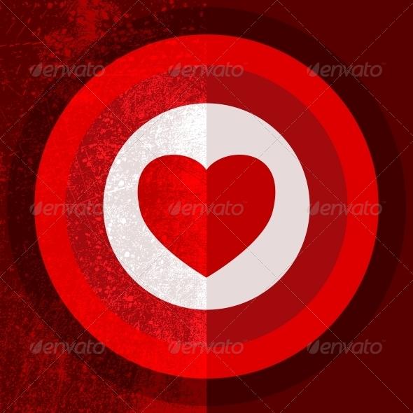 Valentine Target Half - Valentines Seasons/Holidays