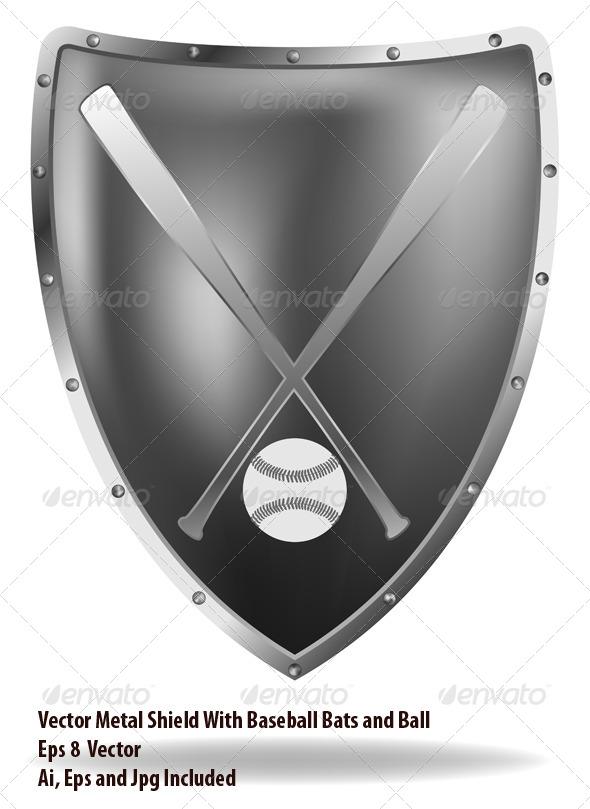 Baseball Shield - Sports/Activity Conceptual