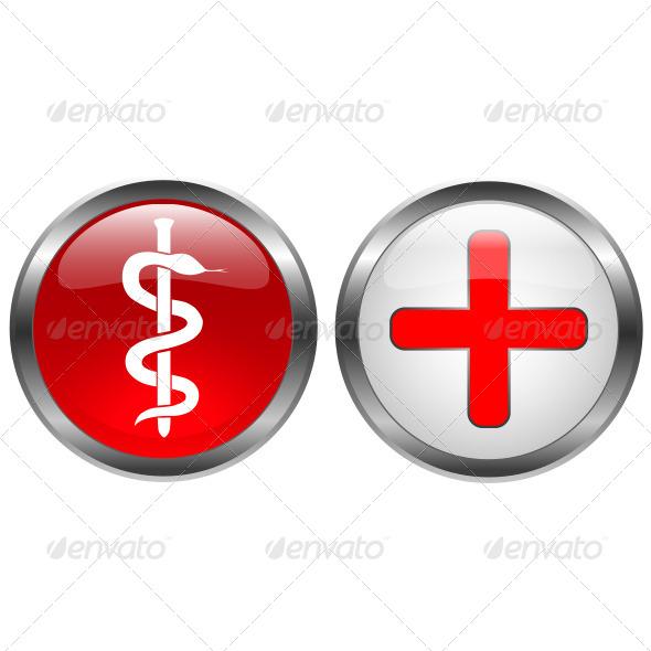 Lock Medical Icon - Vectors