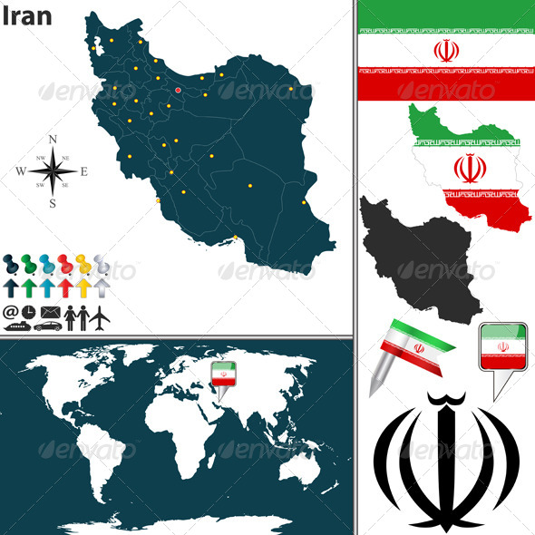Map of Iran - Travel Conceptual