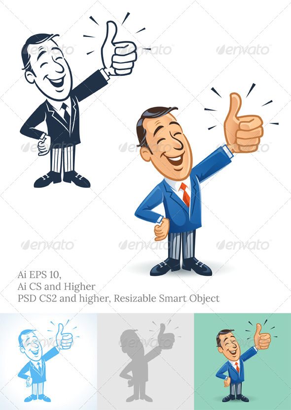 Thumbs Up Businessman - Business Conceptual