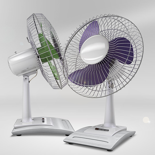 Desk Fan Model - 3DOcean Item for Sale