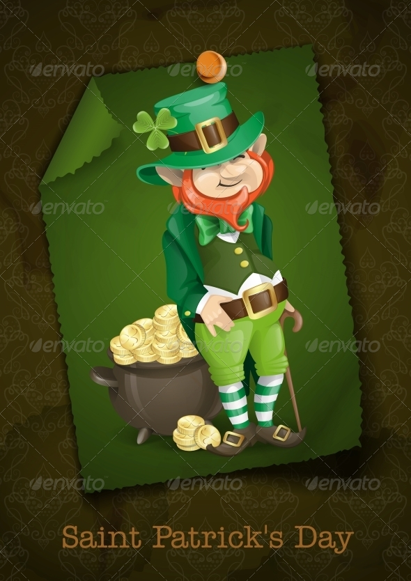 Leprechaun With Pot of Gold - Miscellaneous Seasons/Holidays