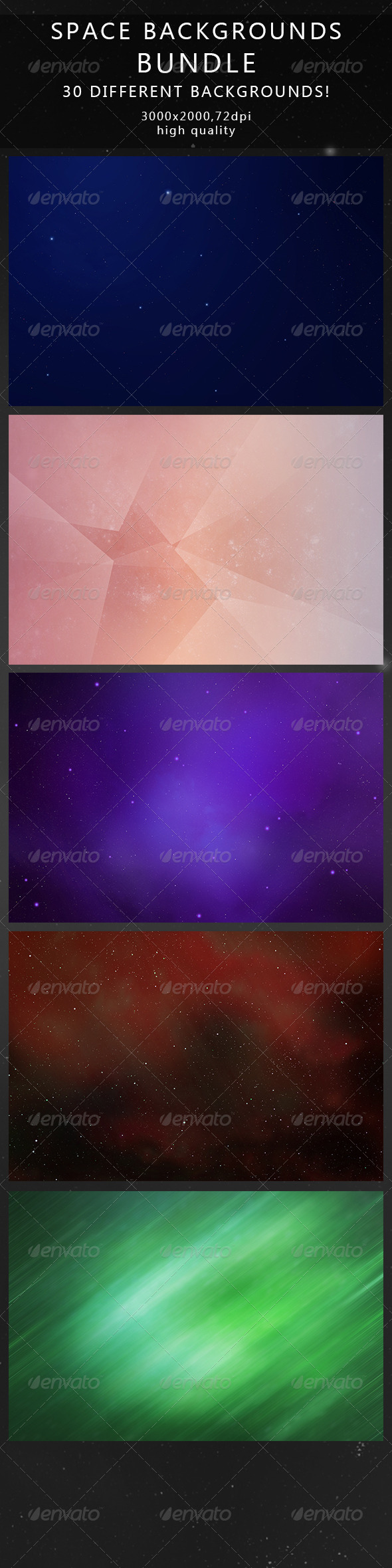 Space Backgrounds Bundle - Abstract Backgrounds