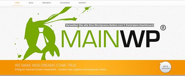Web dreams agency screenshot webpage mainwp