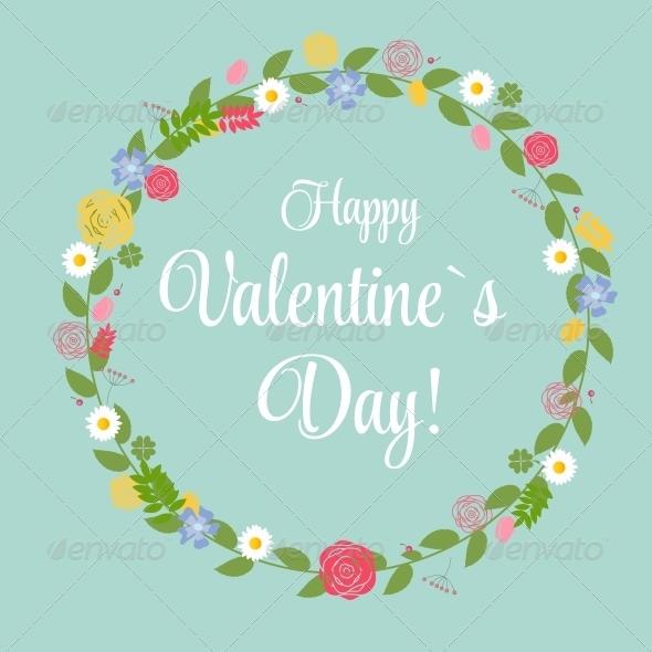 Retro Valentine Day's Greeting Card  - Valentines Seasons/Holidays