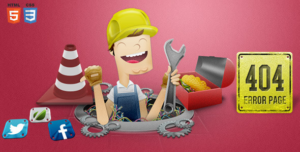 Handyman 404 Error Page - 404 Pages Specialty Pages