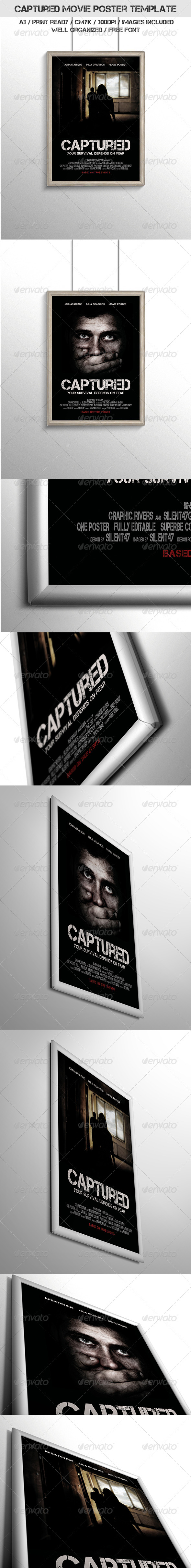 Captured Movie Poster Template - Miscellaneous Events