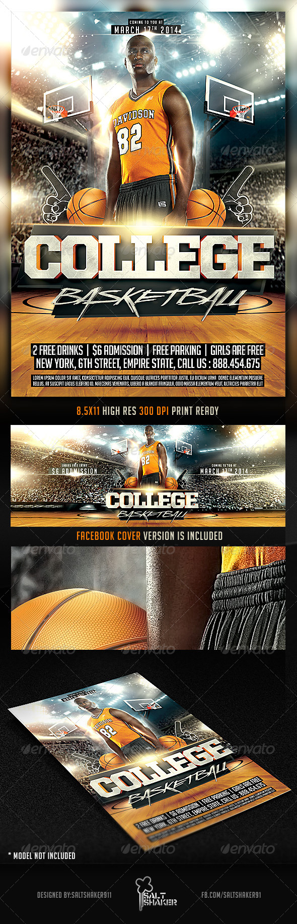 March College Basketball Flyer - Sports Events