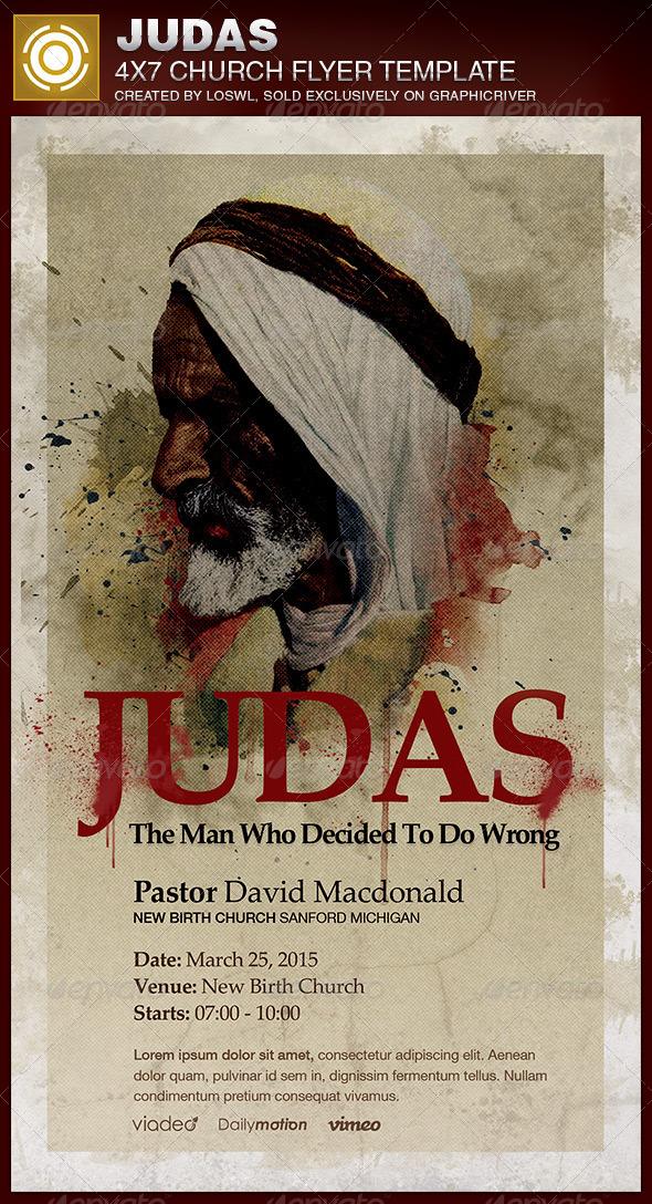 Judas Church Flyer Template - Church Flyers