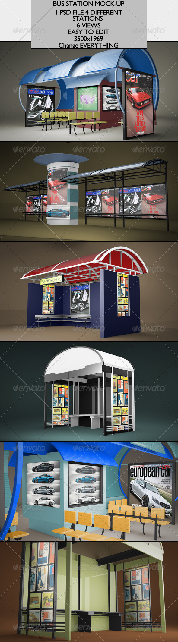 Bus Station Mock-up - Miscellaneous Product Mock-Ups