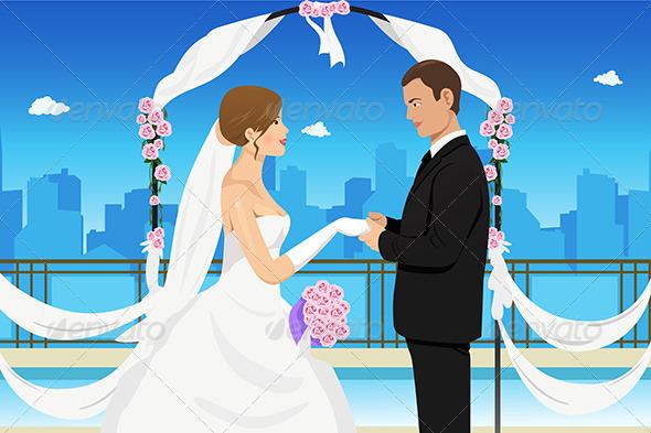 Married Young Couple - Weddings Seasons/Holidays