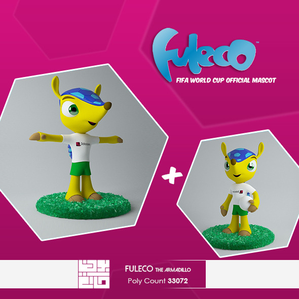 Fuleco The Armadillo 3D Model - 3DOcean Item for Sale