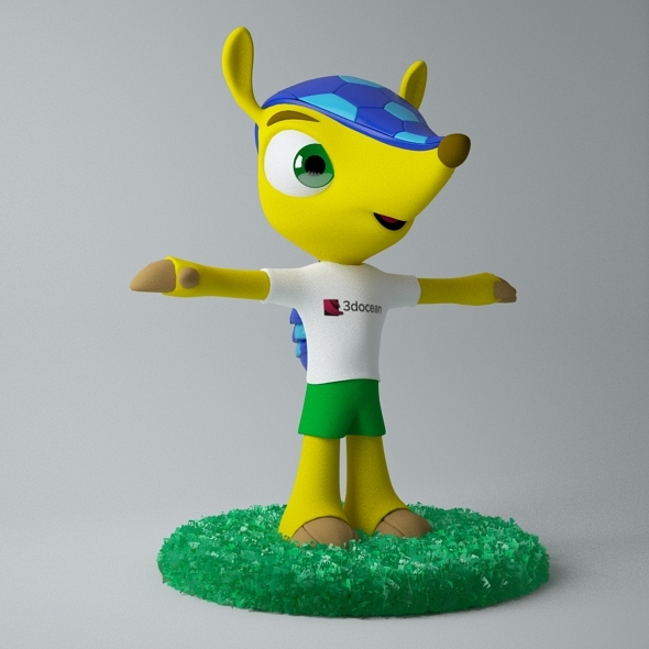 Fuleco The Armadillo 3D Model