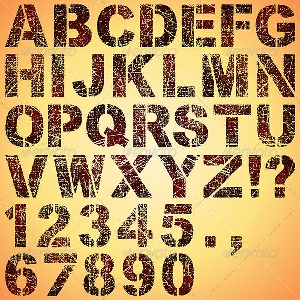 Grunge Stencil Letters - Miscellaneous Vectors