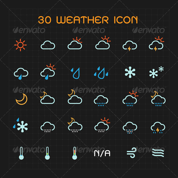 Color Weather Icon Set - Icons