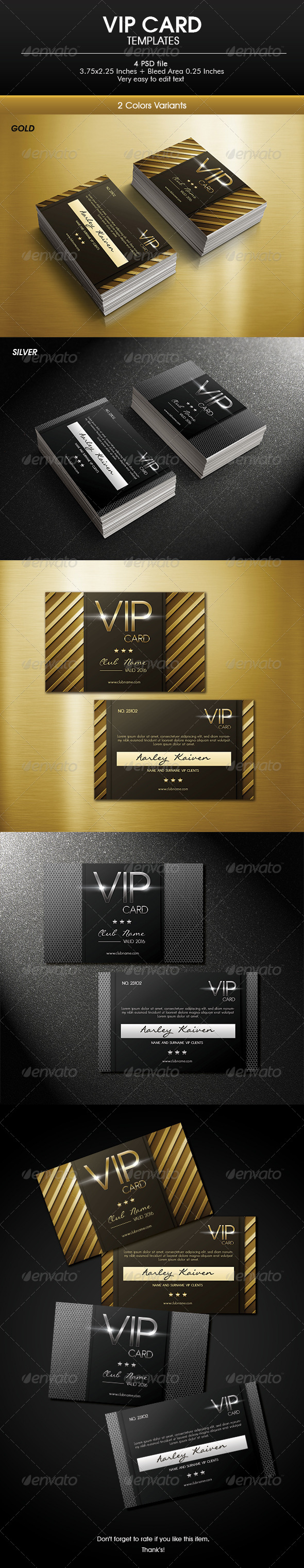 Multipurpose Vip Card - Loyalty Cards Cards & Invites