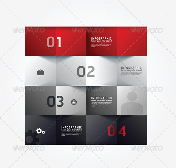 Modern Design Minimal Style Infographic Template - Infographics