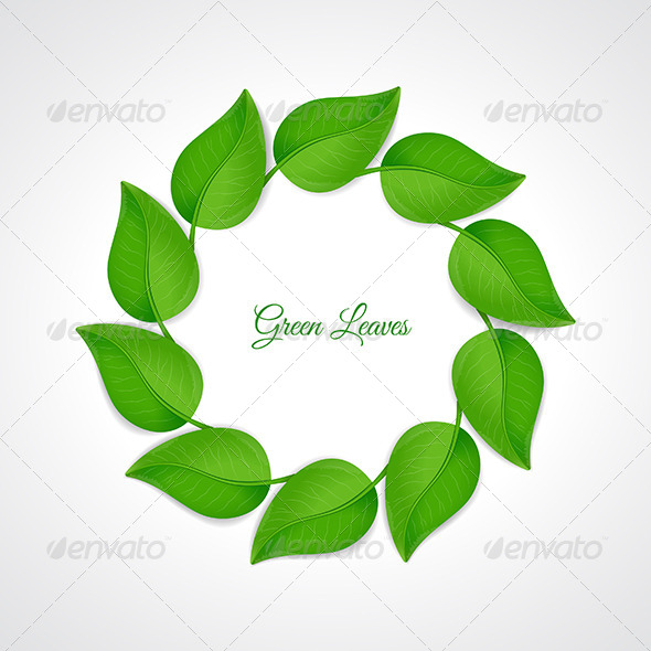 Green Leaves Border - Backgrounds Decorative