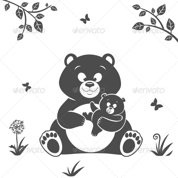 Bear Silhouette - Animals Characters