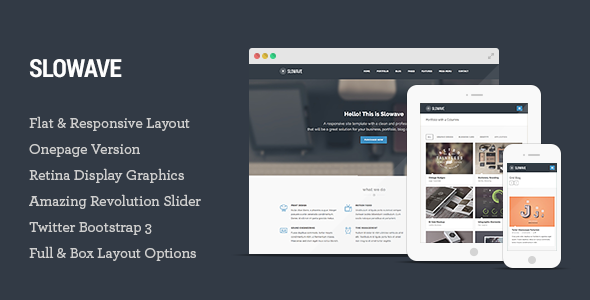 Slowave – Multipurpose Responsive HTML5 Template
