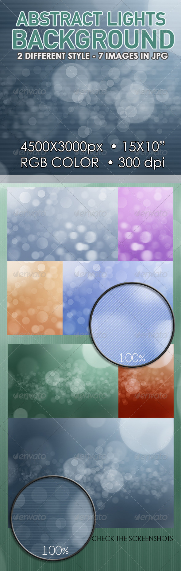 Abstract Lights Bokeh Background - Backgrounds Graphics