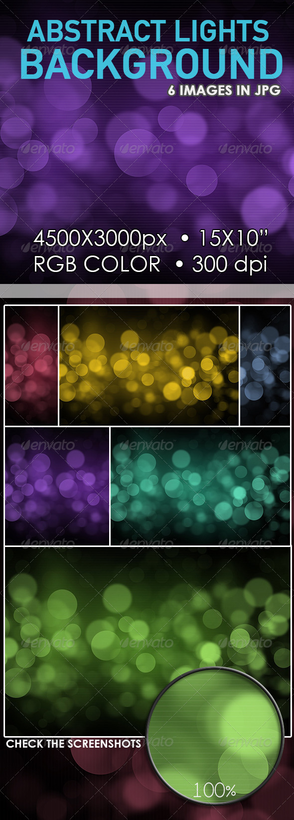 Abstract Lights Bokeh Background - Abstract Backgrounds