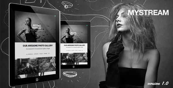 MyStream - Responsive Photography One-Page Template - Photography Creative