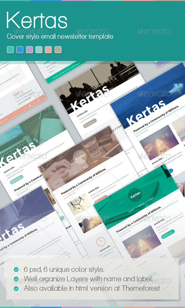 Kertas Mail - E-newsletters Web Elements